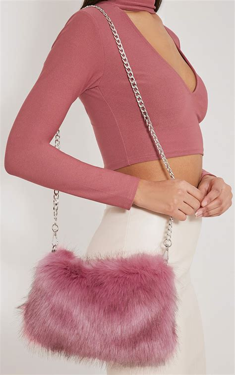 Pink Purse Speakers With Faux Fur Trim by Back In Stock New In S Clothing Prettylittlething