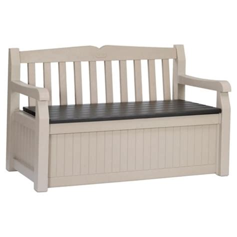keter bench buy keter eden plastic storage bench from our garden