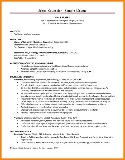 Readjustment Counseling Therapist Sle Resume by 7 Counselor Resume Time Table Chart