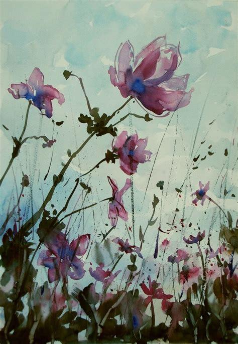 fiori ad acquerello fiori selvatici fiori flowers