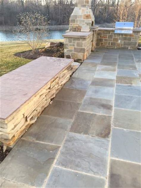 Bluestone Patio Pavers Landscaping Ideas Patio Flagstone Patio Wall