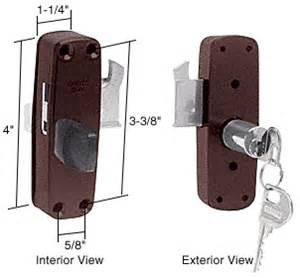 crl bronze patioguard deadbolt lock