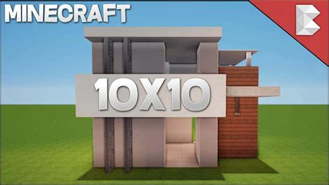 minecraft house design tutorial minecraft 10x10 modern house tutorial easy to follow minecraft house design