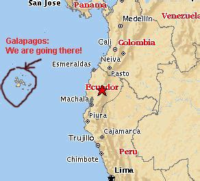 map of south america galapagos islands travel logs from the galapagos islands
