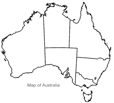 empty map of australia blank map of oceania physical color