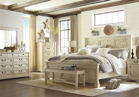 white panel bedroom set bolanburg white louvered panel bedroom set b647 54 77 96