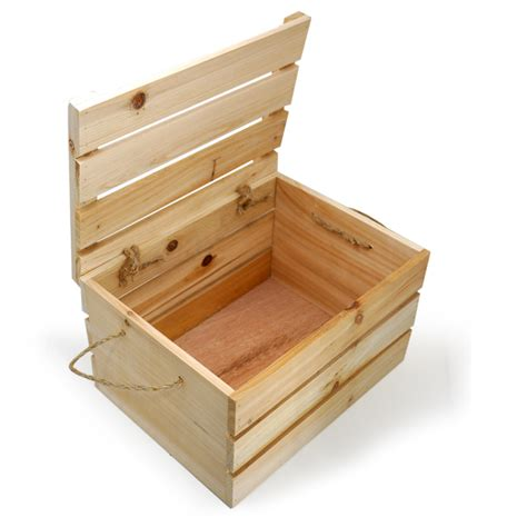 wooden crates wooden crate storage box with lid medium would this in my living room