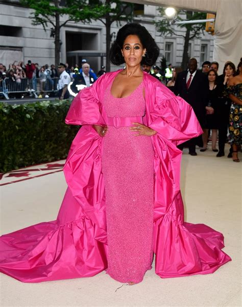 tracee ellis ross pink dress best of the met gala 2018 the hottest looks with rihanna