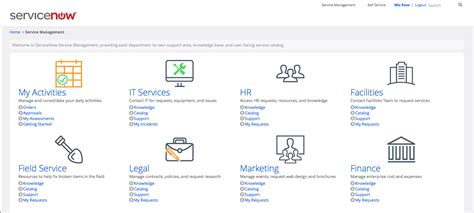 servicenow homepage layout product screenshots servicenow