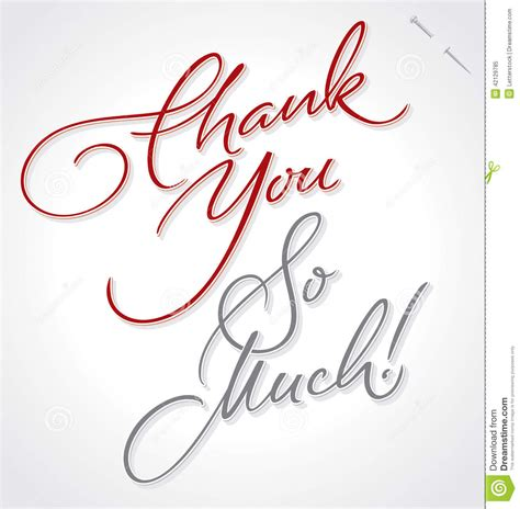 Handmade Lettering - thank you so much lettering vector stock vector