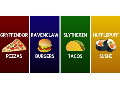 which harry potter house are you which harry potter house do you belong in based on your favorite foods playbuzz