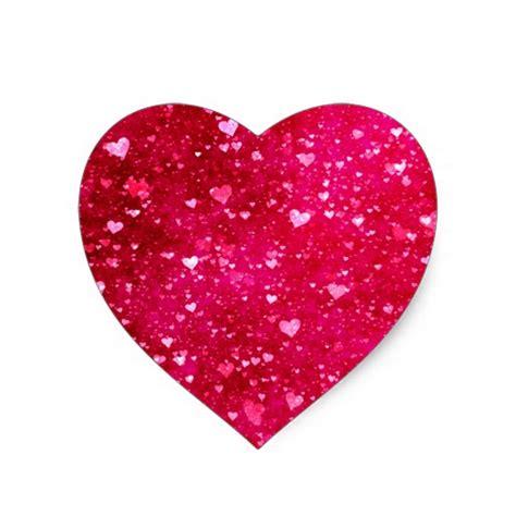 pink hearts pink glitter hearts pattern sticker zazzle