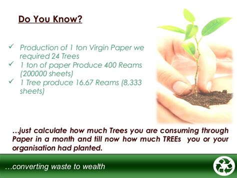 How Many Papers Can A Tree Make - green o tech paper recycling updated