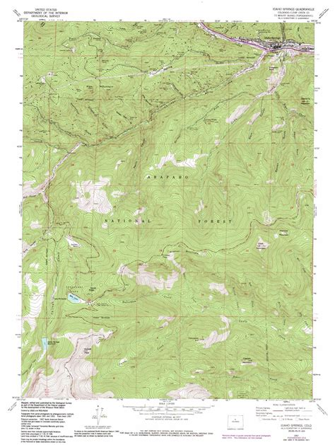 topographical map of colorado springs idaho springs topographic map co usgs topo 39105f5