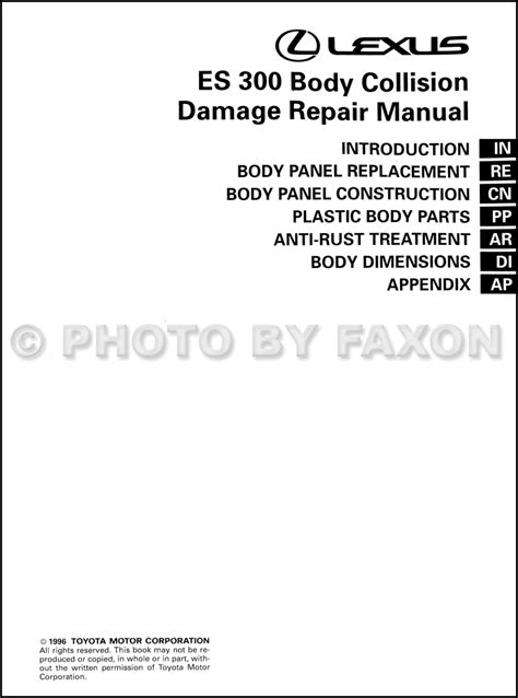 service repair manual free download 2001 lexus es on board diagnostic system 28 1997 lexus es 300 factory service manual 8743 1995 lexus es 300 wiring diagram manual