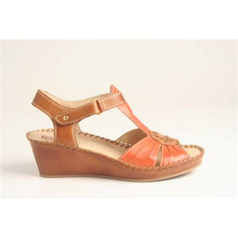 Fdl 503 Sendal Wedgea Casual pikolinos pikolinos wedge sandal style 943 7619 in high grade combination leather with