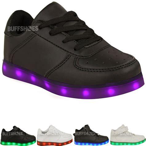 light up shoes size 6 kids girls trainers flashing led luminous lights usb