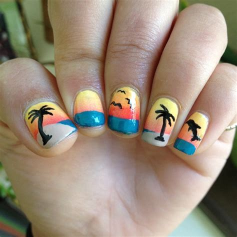 easy nail art palm tree 44 palm tree nail art ideas that you will love ecstasycoffee