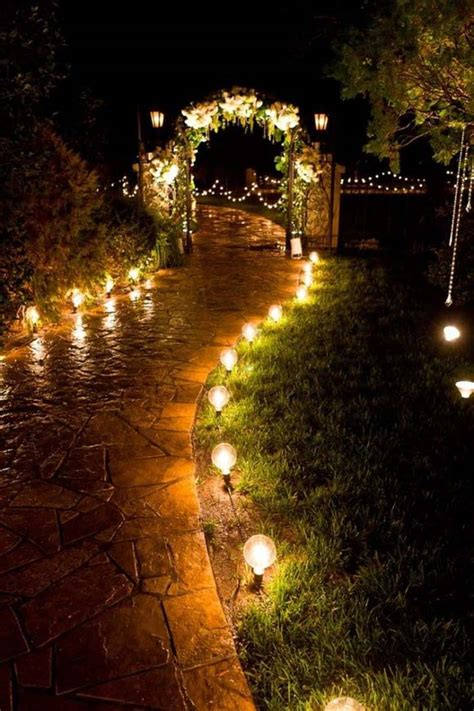 Garden Arch With Lights Ideas Para Iluminar Bodas De Noche Balart Nuvies