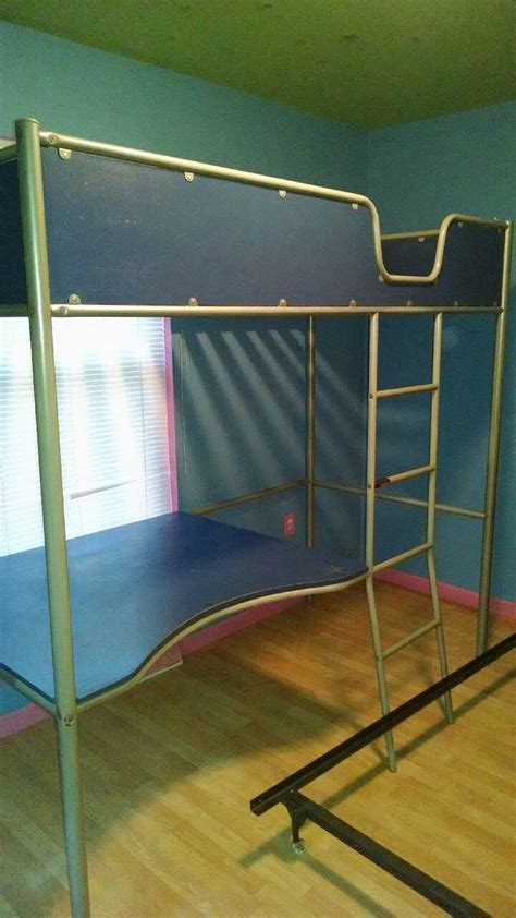 Bunk Bed With Desk On Bottom Letgo Bunk Bed With Desk Bottom In Washington Pa