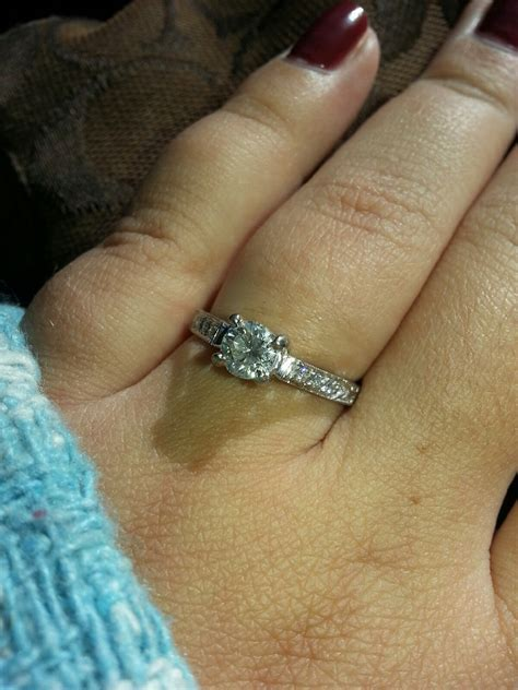 Would a half carat round diamond solitaire ring look too