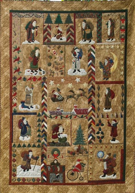 Santa Quilt Pattern by Dorothy Baker Designs Santa Quilt
