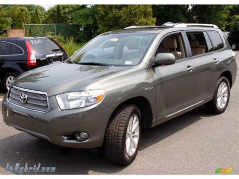 2008 Toyota Highlander Hybrid Limited 2008 Toyota Highlander Hybrid Limited 4wd In Cypress Green