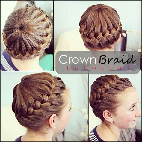 hairstyles braided tutorial crown braided hairstyle tutorial careforhair co uk