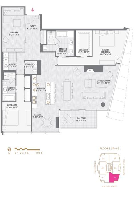 floor plan la shangrila floor plan 06 shangri la toronto at 180
