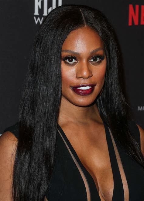 laverne cox laverne cox at weinstein company and netflix golden globe