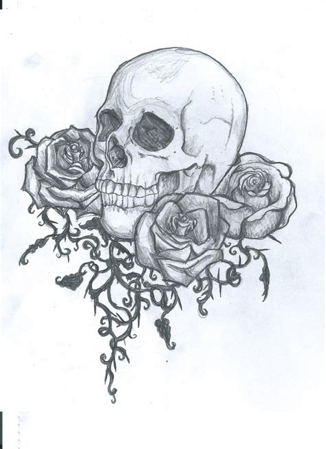 skull tattoo design by ei3ga on deviantart