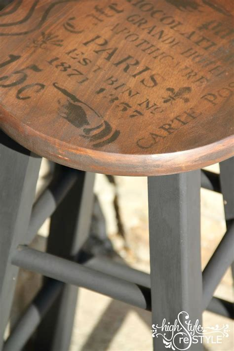 How To Paint A Wooden Stool by Inspired Bar Stool Makeover Furniture All Things