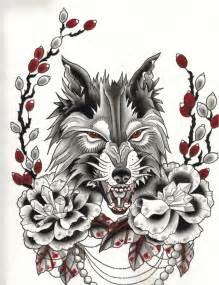 tattoo flash wolf traditional wolf flash art www pixshark com images