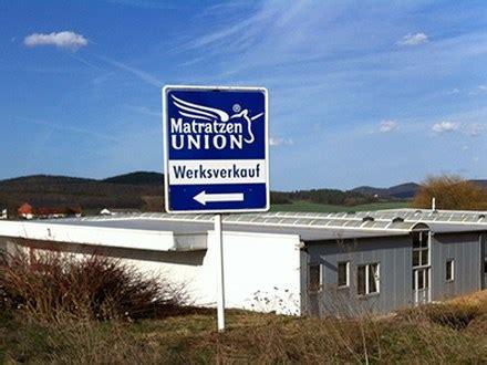 matratzen frankenstolz fabrikverkauf matratzen union gmbh outlet wolfhagen