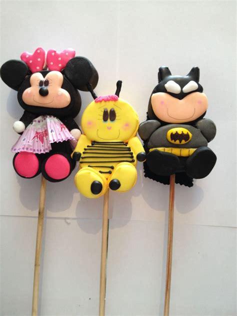 decoracion de bombones para fiestas paletas de personajes para fiestas paletas de bombon