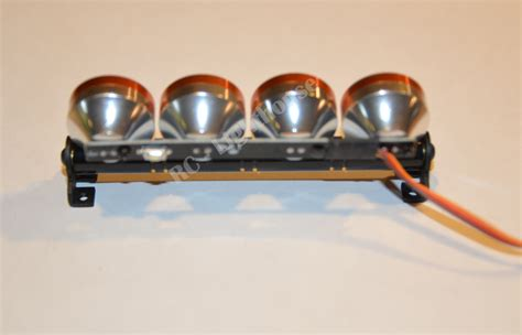 Rc Led Light Bar In Orange With Clear Lenses Rc Lighthouse Orange Led Light Bar