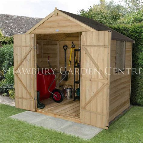 Assembled Garden Sheds by Forest Garden 5 X 7 Pressure Treated Overlap Apex Shed