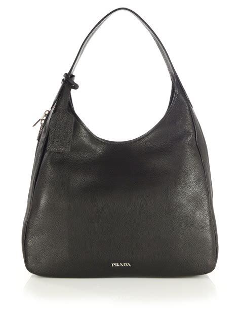 Prada Crispy Hobo Handbag by Prada Deerskin Hobo Bag In Black Lyst