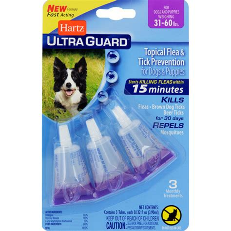 flea drops for dogs hartz ultraguard flea and tick drops for dogs from 31 to 60lbs walmart