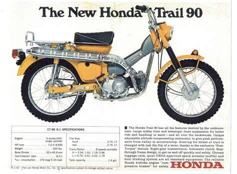 Honda Trail 90 Parts 1969 honda trail 90 model ct 90 k 1 motorcycle sales