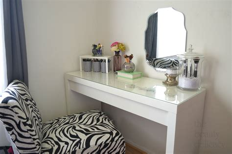 Simple Country Home Decor simple diy white wood makeup vanity table with glass top
