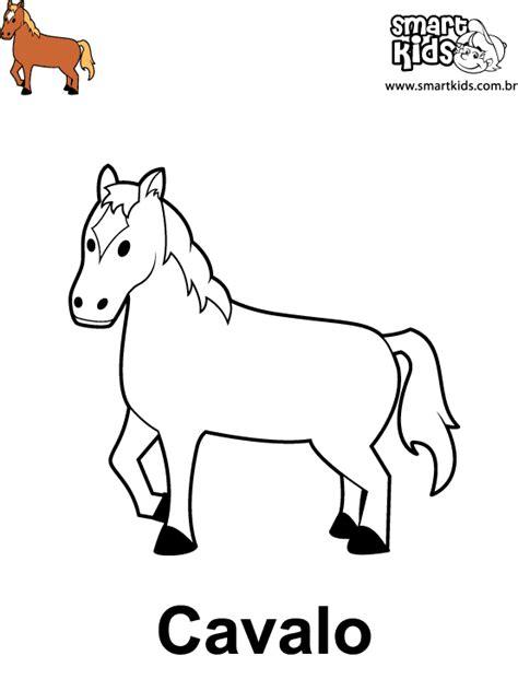 Colorir Desenho Cavalo - Desenhos para colorir - Smartkids