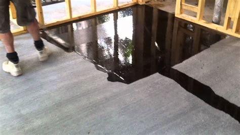 Concrete Flooring Full Gloss Sealer   YouTube