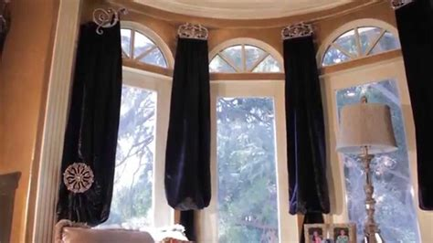 Swag Curtains With Valance Curtains For Bay Windows Bishop Valance Swags Panels
