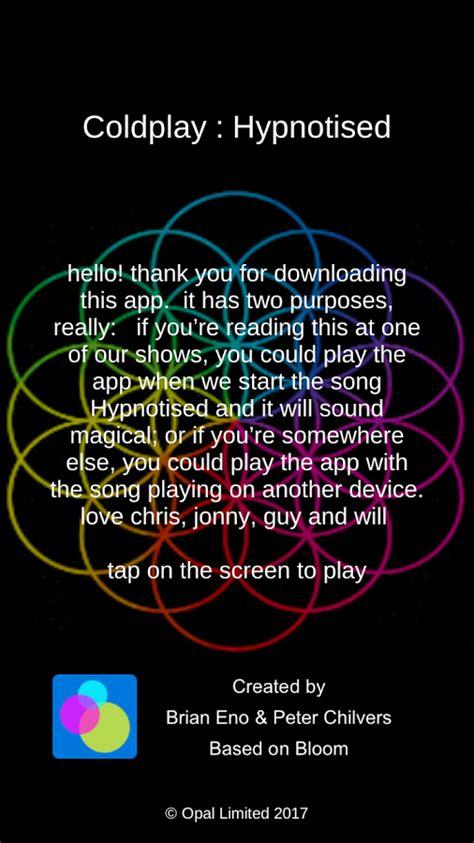 coldplay o download coldplay lan 231 a app que interage com a m 250 sica hypnotised