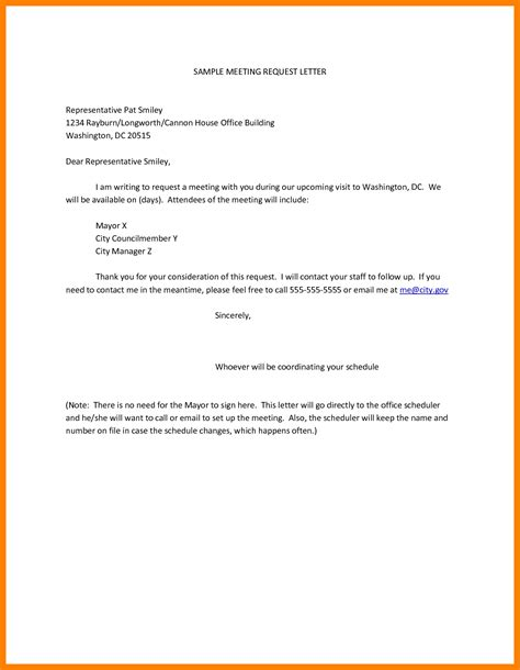 Business Letter Sle For Meeting Request 6 Letter For Meeting Schedule Protect Letters