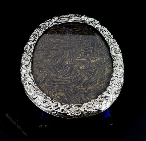 solid silver antiques atlas antique solid silver photo frame dated 1901