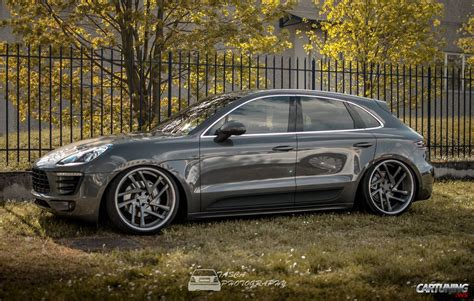 stanced porsche stanced porsche macan 187 cartuning best car tuning photos