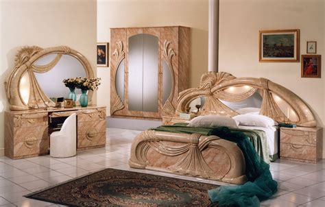 Classic Italian Bedroom Sets Salome Marble Italian Classic 3 Bedroom Set