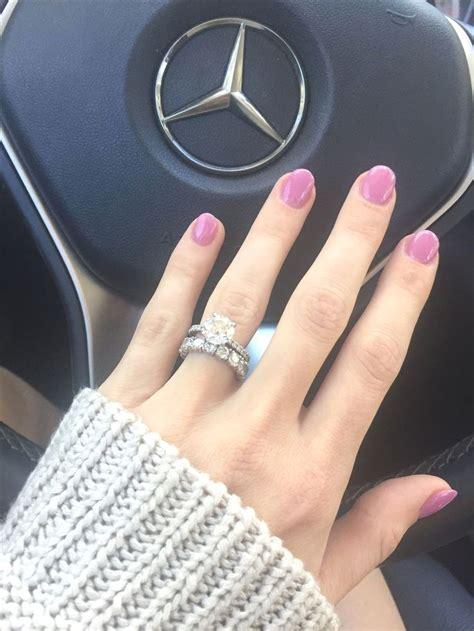 engagement ring simple brilliant    carat